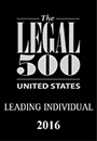 Listed as a leading lawyer in The Legal 500 United States 2016