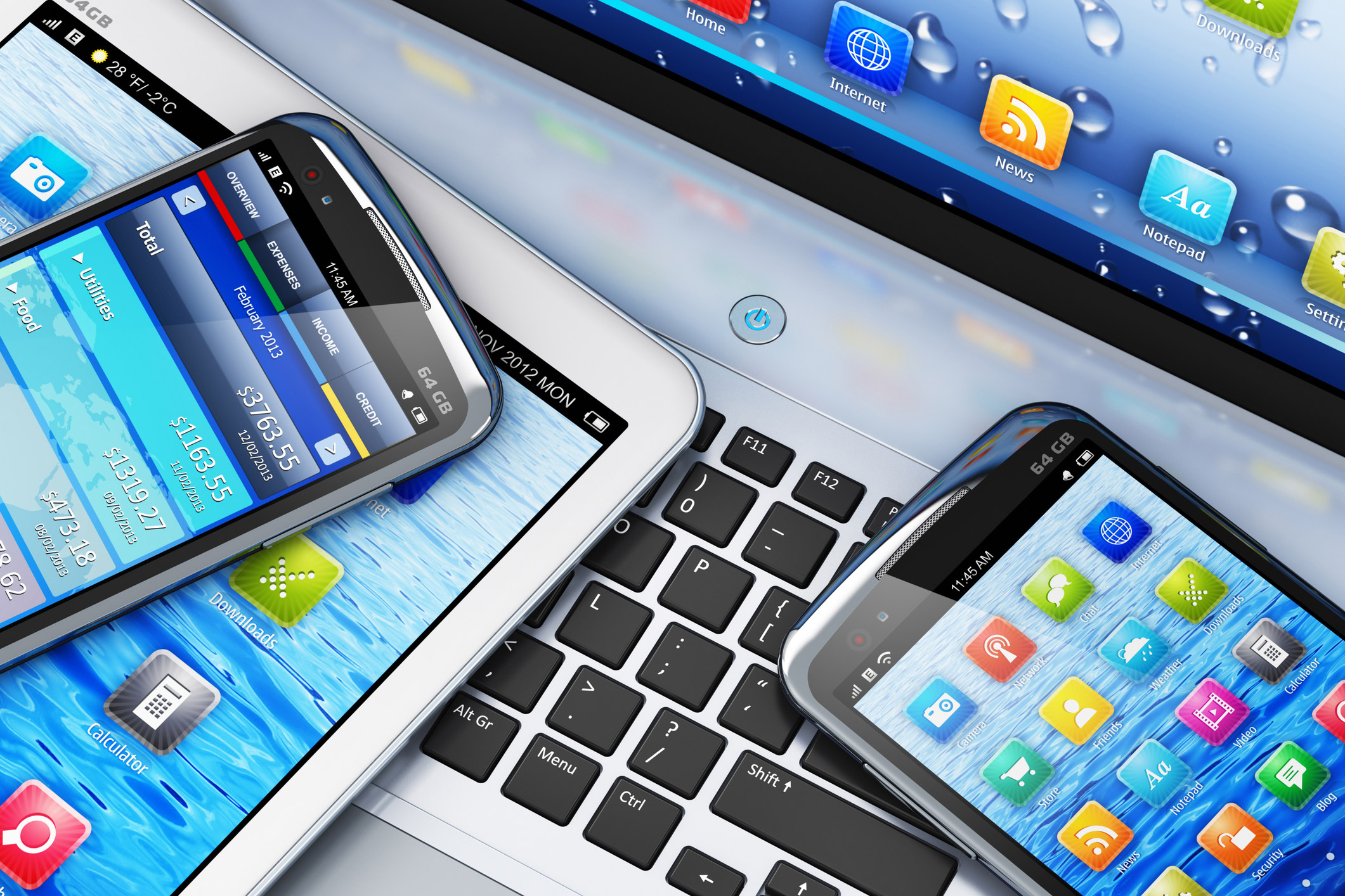 Mobile-digital-devices-on-laptop