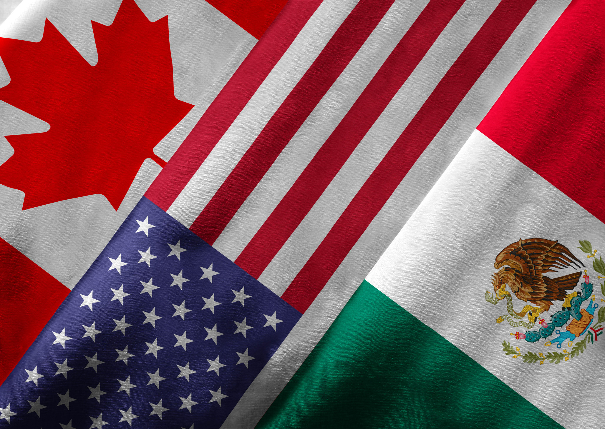 NAFTA-Mexico-US-Canada-Flags