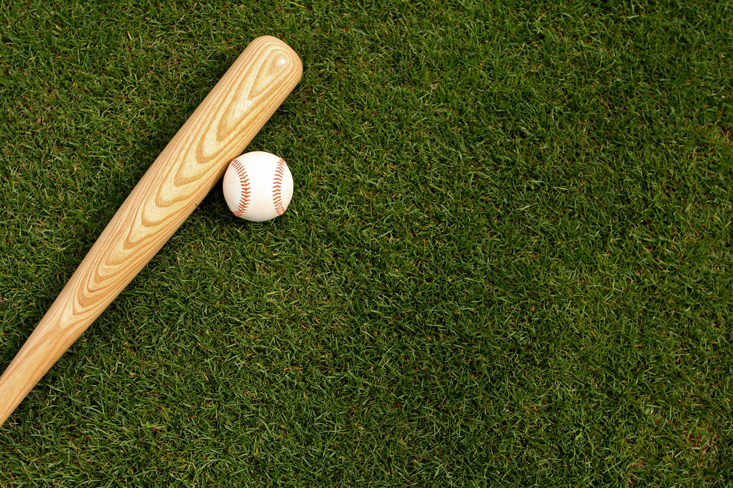 Baseball-and-Bat-on-the-Grass