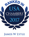 Ranked as a leading lawyer in Chambers USA 2017