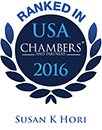 Ranked as a leading lawyer in Chambers USA 2016